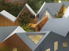 courtyard, pitched roof,