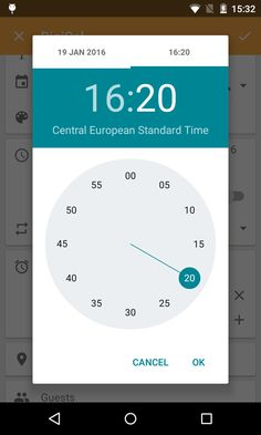 In DigiCal, we have two different date and time pickers that you can select from.    Date pickers: Android date picker   DigiCal date picker       Time pickers: Clock time picker    Di...