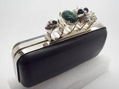 badass brass knuckle clutch with skulls!