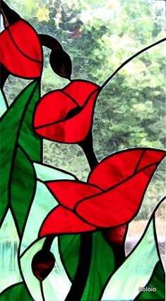 .beautiful rose stained glass