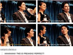 TVD at PaleyFest 2010 I love nina's face so much this was just perfect!