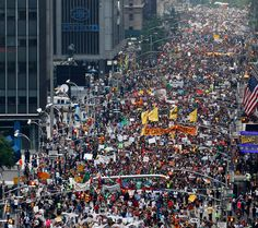 People's Climate March  the largest mobilisation on climate change in history. Yesterday, we blew past our wildest expectations, with a climate march *6 times* the size of anything before it!!! This was 80 city blocks of New York: