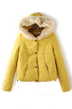 Fur Hat Collar Cotton-padded Outerwear