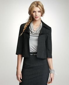 Grey Corporate Business Suit & Skirt