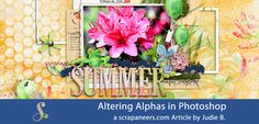 I have a quick and easy trick today about altering digital alphas with a bevel…