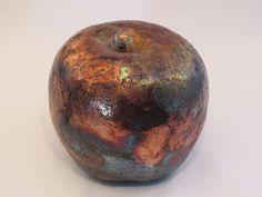 Items similar to Gorgeous Raku Apple on Etsy Raku Pottery, Crane, My Etsy Shop, Apple, Fruit, Apple Fruit, The Fruit, Apples
