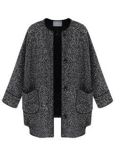 Casual Women Button Solid Woolen Short Coat