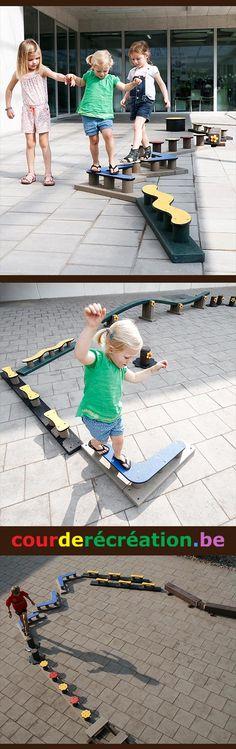 Destiné spécifiquement aux écoles, aux jardins d'enfants et aux espaces récréatifs, nous développons des jeux et du mobilier urbain en plastique recyclé. Nous créons des petits modules de jeux qui ne requièrent aucune installation de sol amortissant.   No