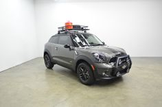 A custom Mini Cooper S Paceman grill guard and lighting system we fabricated for Northwest MINI in Tacoma, WA.