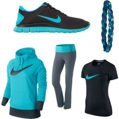 My signature color!:) #nike #underarmour #women'sfashion Nike Outfits, Moda Outfits, Sporty Outfits, Nike Shoes Cheap, Nike Shoes Outlet, Nike Free Shoes, Cheap Nike, Workout Attire, Workout Wear