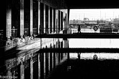 30th of November - Bordeaux (France) : urban exploration in the middle of this huge concrete warehouse on water called the submarine base in Bordeaux. As fascinating as scary !