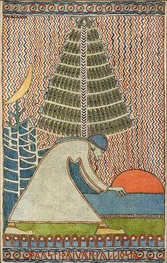 'Let the days of the rock'  link    Joseph Alanen's illustration for Kalevala, 1919-20