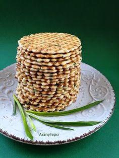 AranyTepsi: Medvehagymás-füstölt sajtos tallérok