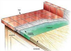 57 Ideas Kitchen Tile Countertops Diy Window For 2019 Kitchen Redo, Kitchen Design, Kitchen Tile, Kitchen Makeovers, Tile Counter Tops Kitchen, Wood Counter, Kitchen Interior, Cocina Shabby Chic, Tile Countertops