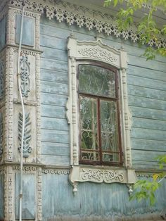 gingerbread trim for houses is another architecture detail that enhances a home. Old Windows, Windows And Doors, Vintage Windows, Shabby Chic, House Doors, Window View, Window Detail, Through The Window, Old Doors