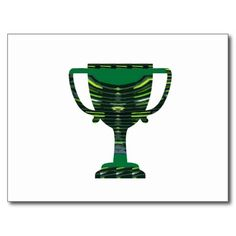 GREEN Trophy Award Cup Environment NVN250 fun Post Card