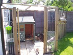 Great set up for bunnies in the garden