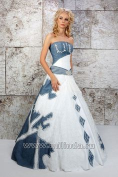 Denim Wedding Dress. They say wedding but I think for any time would ...
