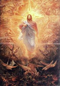 Coming of Jesus Pictures Of Christ, Jesus Christ Images, Jesus Art, Bible Pictures, Catholic Art, Religious Art, Religion, Jesus Painting, Christ The King