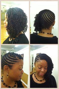 Braided marley twist hairstyle