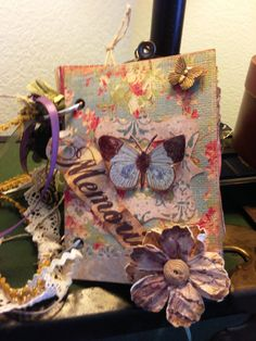 Butterfly Memories Mini Album by NoodlePig on Etsy, $12.00