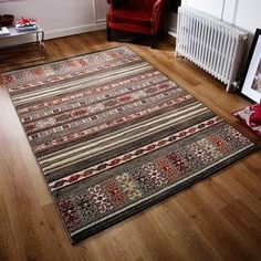 Zante Multi-Coloured Rugs 113W - Free UK Delivery - The Rug Seller