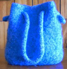 Felted Bag - Free Knitting Pattern for a Knit and Felted Bag