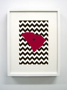 University of South Carolina Giclée Print- 8x10 - USC - Go Gamecocks. $14.00, via Etsy.