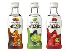 SUNTORY  MILMIX(ミルミックス)ビターキャラメル&抹茶&苺