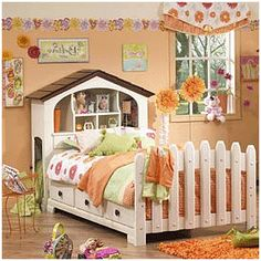 Sweet dreams are guaranteed for the sweet princess that sleeps here. From dawn to dusk, the Robin Captain's bed is the most comfortable and beautiful place in the house to relax, unwind and fall asleep. The picket fence like footboard gives the room a country like atmosphere. The drawers are great for storage. Your princess will sleep so comfortably that she won't be able to get out of bed in the morning.