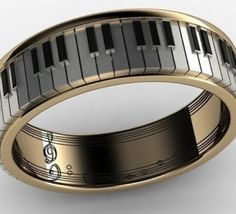 Music ring for someone who plays piano and loves music