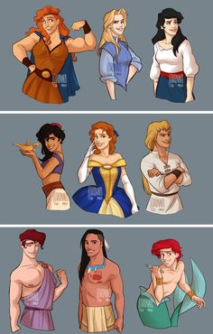 Let's see Disney princess and prince switch gender! // dang ariel Lookin fine Let's see Disney princess and prince switch gender! Disney Pixar, Disney Marvel, Disney Fan Art, Disney Fun, Disney And Dreamworks, Disney Magic, Disney Couples, Funny Disney Memes, Disney Jokes