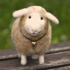 needle felted wool lamb sheep
