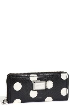 """Marc by Marc Jacobs """"Dotty Snake"""" Zip Around Wallet $158.00"""