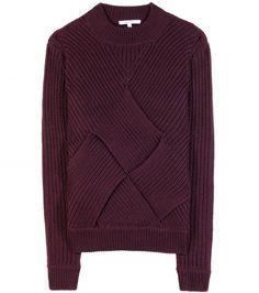 twist knit sweater // plum burgundy
