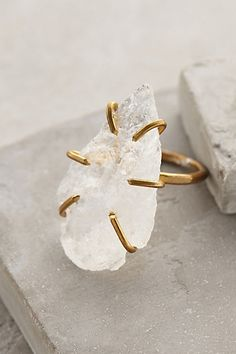 Quartz Arrowhead Ring by Five and Two #anthroregistry