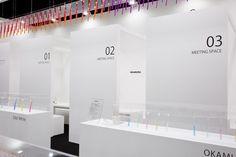 展示会DESIGNTOKYOでのブースデザイン実績 スーパーペンギン。出展企業様が進化することを目標に、集客・出展効果を徹底して考えた戦略的なデザインをご提案します。ブースデザインセミナー開催有。