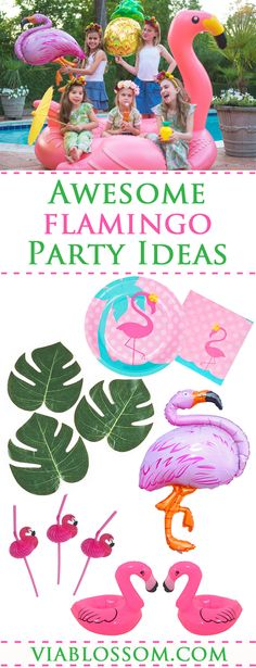 Awesome Flamingo Party Decorations for a Tropical Party, Luau Party or a Pool Party!