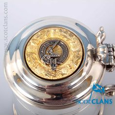 Gunn Clan Crest Pewter Tankard. Free worldwide shipping available