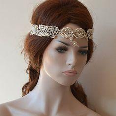Wedding Hair Accessories, Bridal Pearl Headbans, Bridal Headpiece Tiara, Bridal…