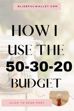 What is the 50-30-20 budget? How can I use the 50 30 20 budget? Does the 50-30-20 budget style work? What type of budget should I use? Wondering How to manage your money with a budget? This easy budget system lets you take control of your finances without being strict. You can buy things you like while learning how to live a frugal life with frugal living tips. 50-30-20 budget rules are simple. 50% (needs) 30% (wants) 20% (save) Follow @BlissfulWallet for more! #budgettips #financialliteracy Financial Literacy, Financial Planning, Budgeting System, Create A Budget, Frugal Living Tips, Managing Your Money, Budget Fashion, Money Management, Money Saving Tips