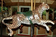The Atlanta Zoo Endangered Species Carousel cheetah
