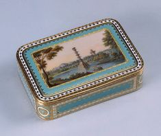 Snuff Box Decorated with the Depiction of the Chesma Column in Tsarskoye Selo, 1795,  Russia