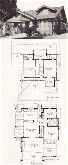 there is nothing like a craftsman home as much as i love this one - Bungalow Floor Plans