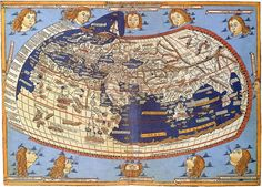 World Map According To Ptolemy Antique Map Historical Cartography Print PosterMuseum-quality posters made on thick and durable matte paper. Add a wonderful accent to your room and office with these posters that are sure to brighten any environment. Old Maps, Antique Maps, Vintage World Maps, Map Globe, Islamic World, Historical Maps, 15th Century, Plans, Oeuvre D'art