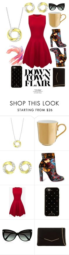 """""""Down Town Flair"""" by fredericsage ❤ liked on Polyvore featuring Frederic Sage, Richard Brendon, Christian Louboutin, Alexander McQueen, Kate Spade, Tom Ford, KoKo Couture and fredericsage"""