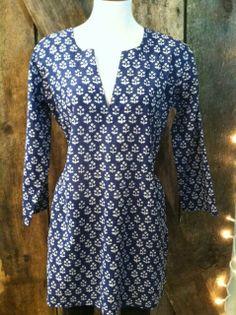 Bella Funk Boutique - Nusantara Kurti Tunic in Blue , $28.00 (http://www.bellafunkboutique.com/nusantara-kurti-tunic-in-blue/)