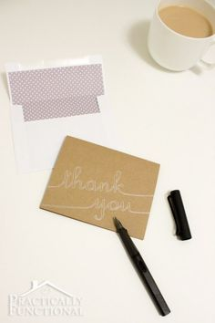 DIY Thank You Cards with Silhouette Sketch Pens- love these!