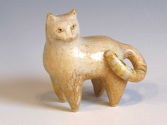 Standing Cat  small sculpture von margaretwozniak auf Etsy