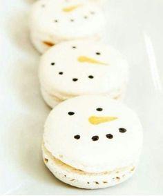 Winter Macarons